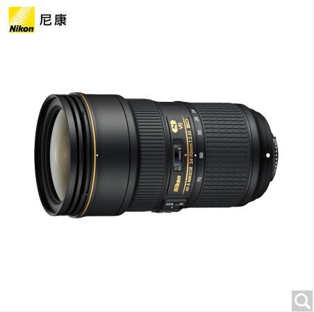 尼康 (Nikon) AF-S 尼克尔 24-70mm f/2.8E ED VR 镜头+尼康原装滤镜 82mm
