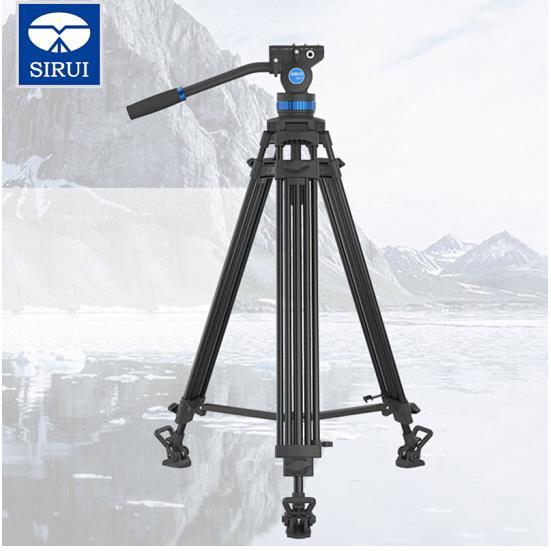 思锐SIRUI摄像机三脚架SH15 SH25液压阻尼摄像云台三角架索尼松下视频录像三脚