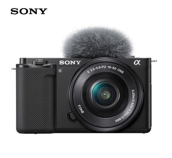 索尼(SONY)ZV-E10 Vlog微单数码相机 标准镜头套装 APS-C画幅小巧便携 4K专业视频