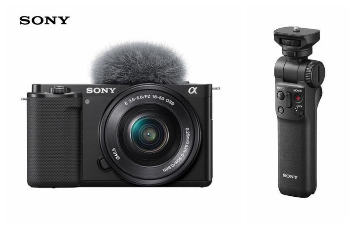 索尼(SONY)ZV-E10 Vlog微单数码相机 标准镜头套装 APS-C画幅 蓝牙手柄套装 小巧便携 4K专业视频